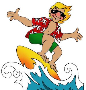 Cool surfer dude