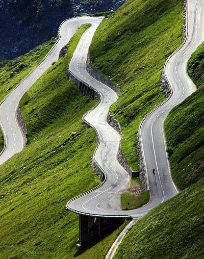 Switzerland downhill road